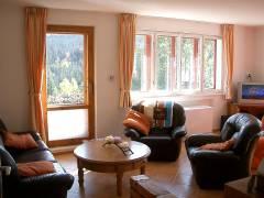 Obývací pokoj, Chata Jasan, Kořenov